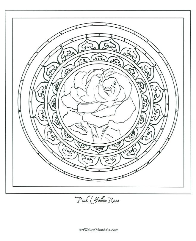free mandala coloring pages pinkyellowrose mandala
