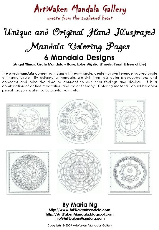 Free Mandala Coloring Pages Download